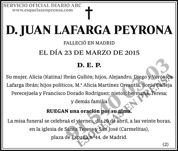Juan Lafarga Peyrona